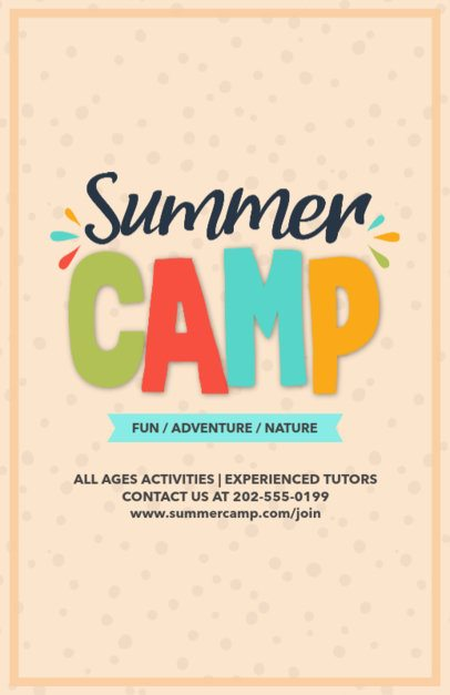 Online Flyer Maker for Summer Camp Designs 196e