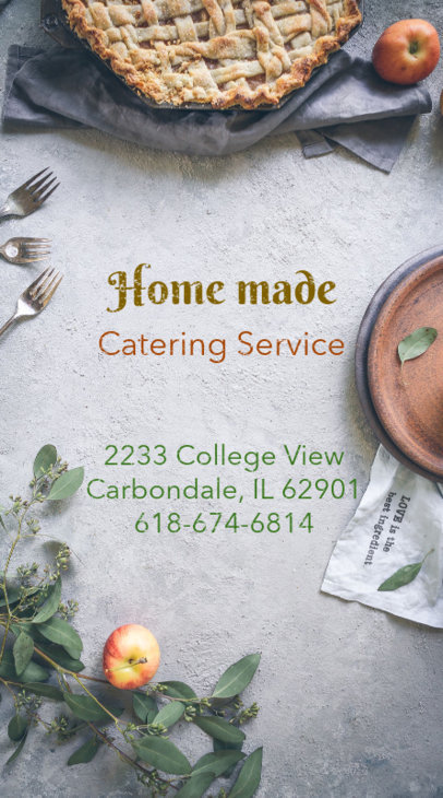 Catering Business Card Maker 73c