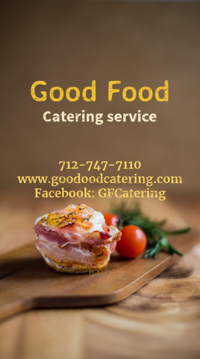 Catering Business card Maker with Vertical Layout 73e