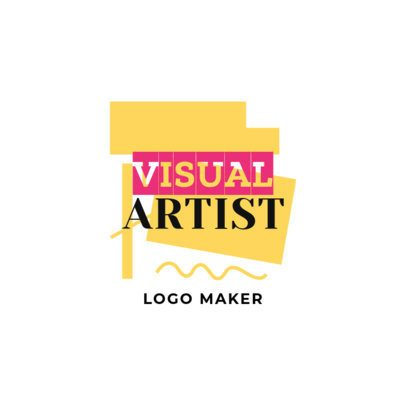 Online Logo Maker for Artists with Shapes and Colors 1187c