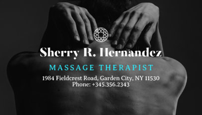 Massage Therapist Business Card Maker 195a-1903