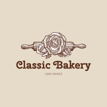 Vintage-Styled Logo Maker for a Bakery 1133a