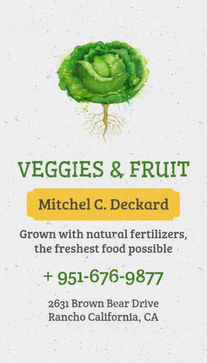 Online Business Card Maker for Organic Food Delivery 199e
