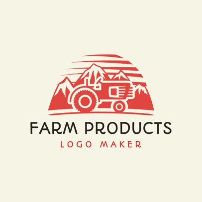 Online Logo Maker for Farm Products with Tractor Icon 1126c