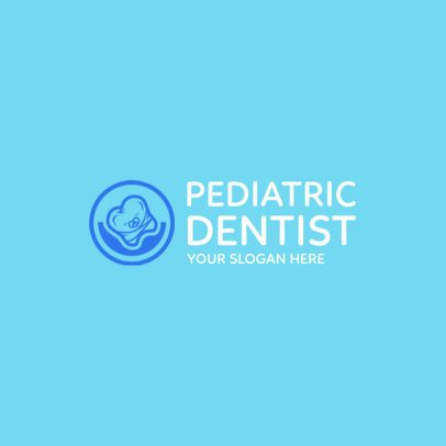 Online Logo Maker for Pediatric Dentists with Baby Tooth Clipart 1026a