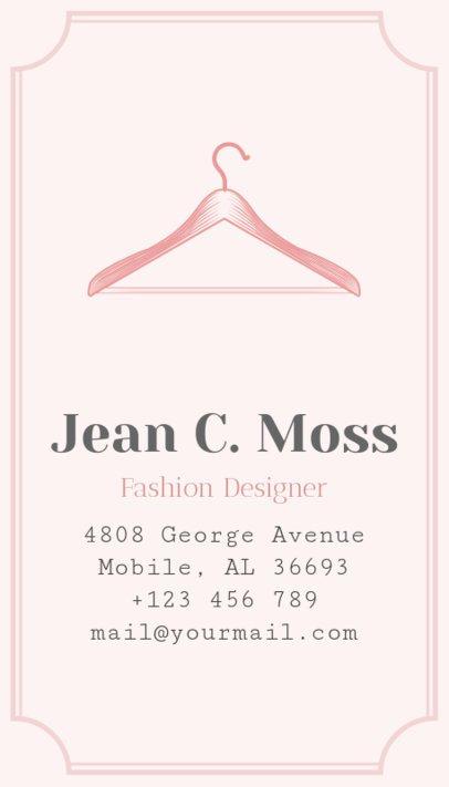 Online Business Card Maker for Fashion Designer 180b