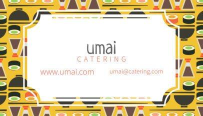 Sushi Business Card Maker 143e