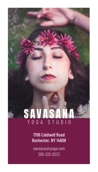 146a Yoga Studio Vertical Business Card Maker