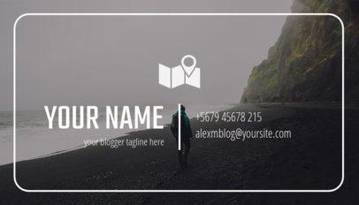 Lifestyle Blogger Business Card Maker 264e