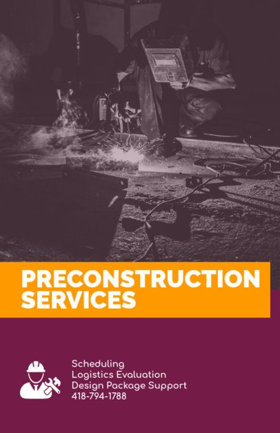 Professional Flyer Template for Preconstruction Services 240d