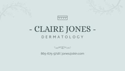 Minimalist Business Card Maker for Dermatologists 203d