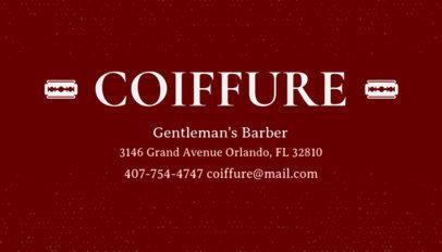 Online Business Card Maker for Gentlemens Barber 103b