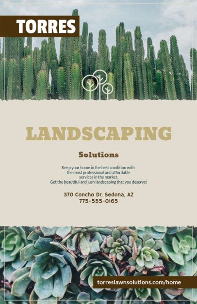 Professional Flyer Maker for Lawn Services 125c