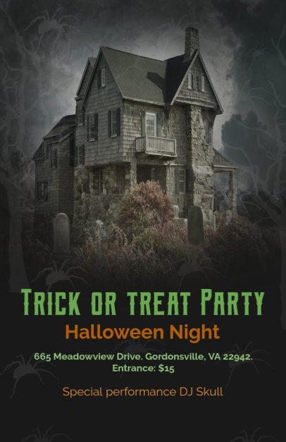Online Flyer Maker with Haunted House Theme 123d