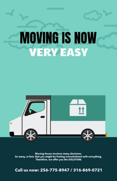 Customizable Promotional Flyer Template for Moving Companies b318