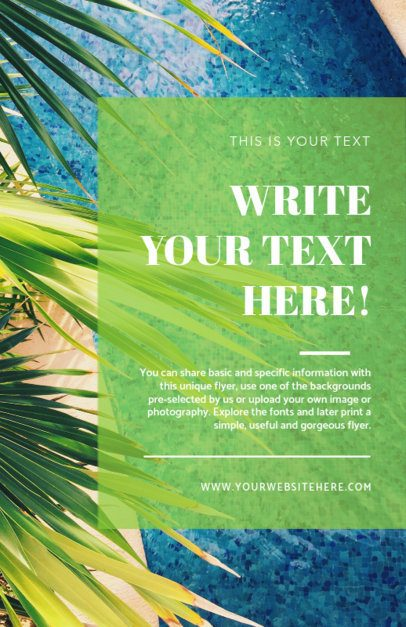 Online Flyer Maker with Tropical Theme 281a