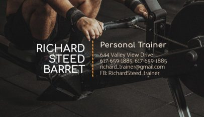 Fitness Business Card Maker 351c