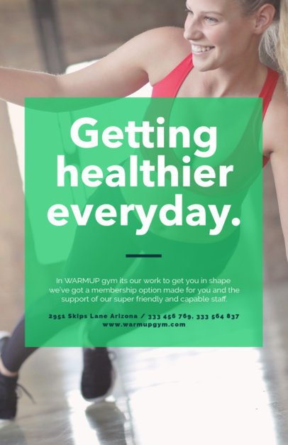 Gym Flyer Template with Green Transparency 352b