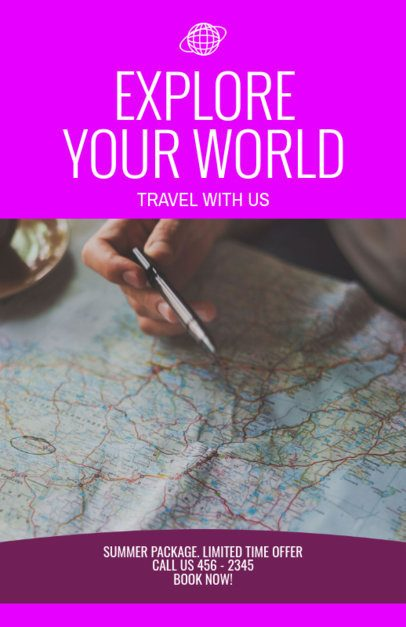 Online Flyer Maker for a Travel Agency Featuring a City Map Picture 307a