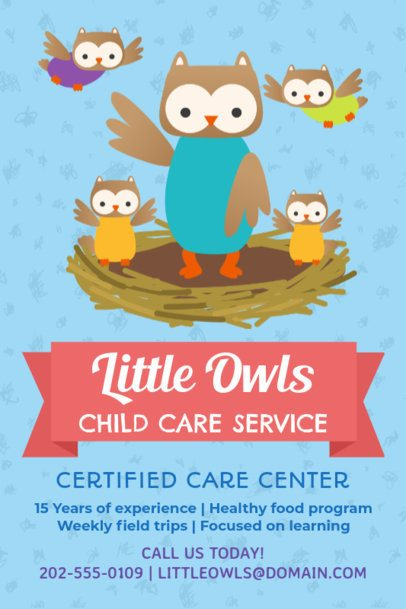 Online Flyer Maker for Babysitting Services 326a