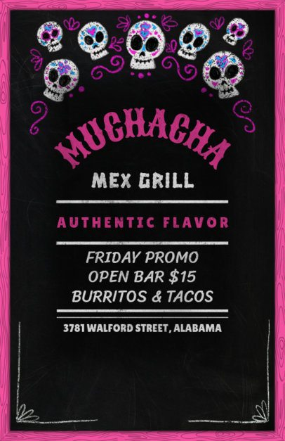 Online Flyer Maker for a Mexican Grill 371b