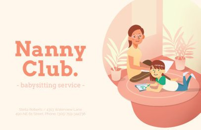 Online Flyer Maker for Nanny Services 315e