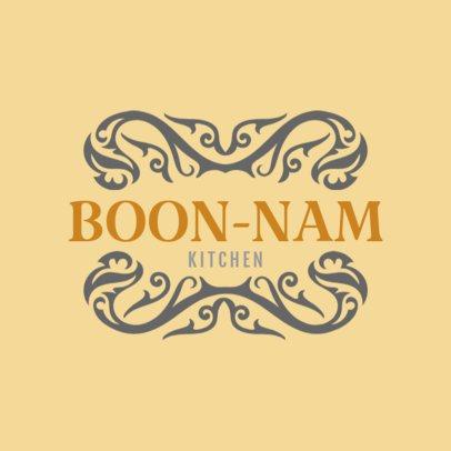 Custom Logo Maker for Thai Restaurants with Thai Symbols 1220b