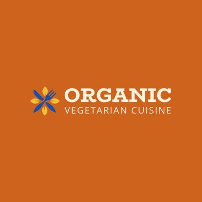 Vegetarian Restaurant Logo Maker 1236c