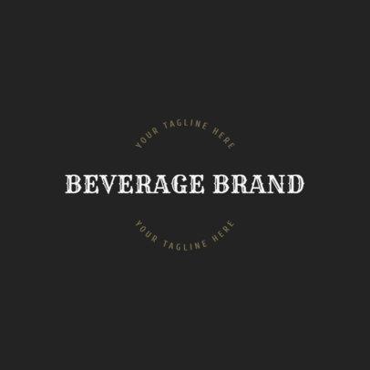 Online Logo Maker for Beverage Brands 1207d