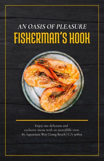Flyer Maker for Casual Seafood Restaurants 361d