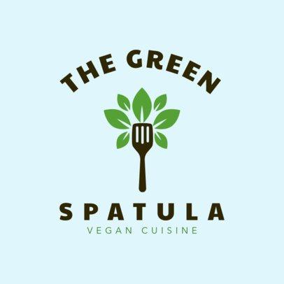 Online Logo Maker for Vegan Cuisine 1258c