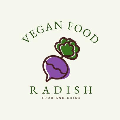 Vegan Restaurant Logo Maker 1258e