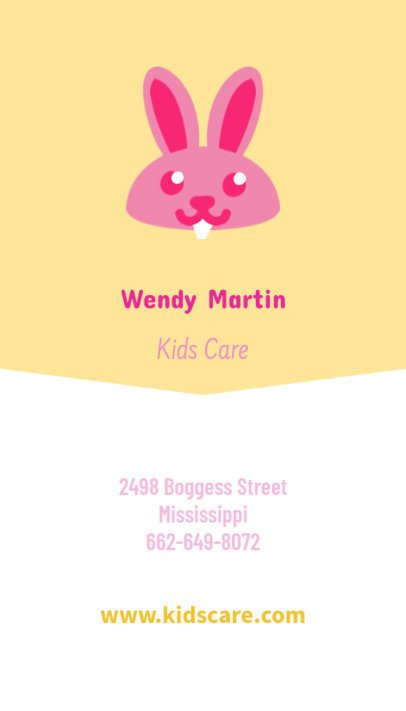 Babysitting Business Card Maker with Vertical Format 354c