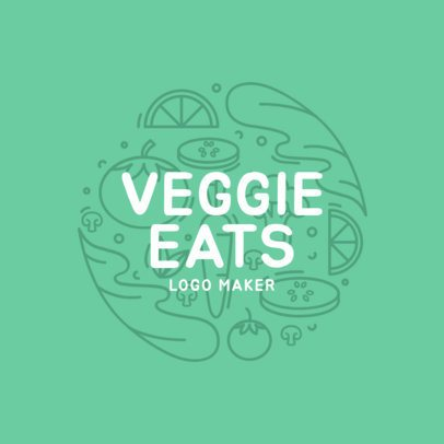 Vegetarian Restaurant Logo Maker with Vegetable Images 1234e