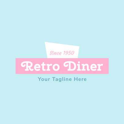 Online Logo Maker for Restaurants with Retro Style 1229e