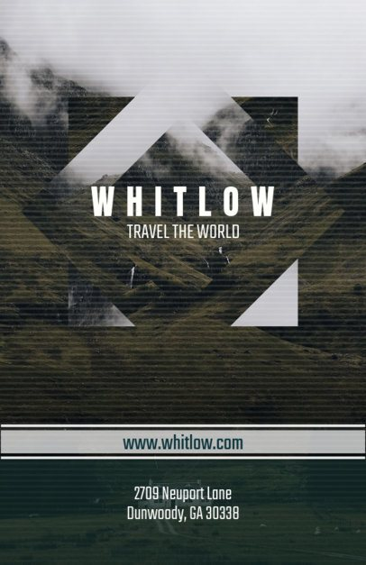 Travel Flyer Maker with Geometric Photography Design 309b