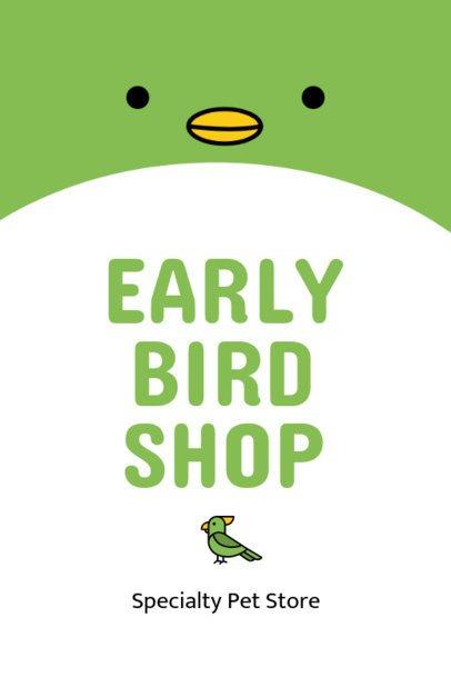 Bird Shop Online Flyer Maker 398-c