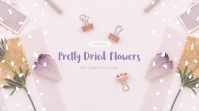 YouTube Banner Template with Floral Graphics b413