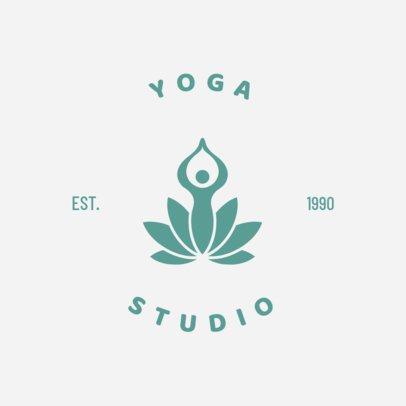 Yoga Studio Logo Maker with Line Art 1273a