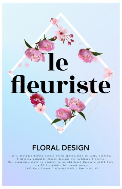 Business Flyer Maker to Design Flyers for Florists 397