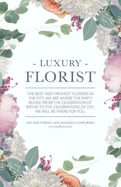 Online Flyer Maker for Flower Boutiques #434