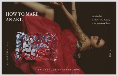 Online Flyer Maker for Art Galleries 423c