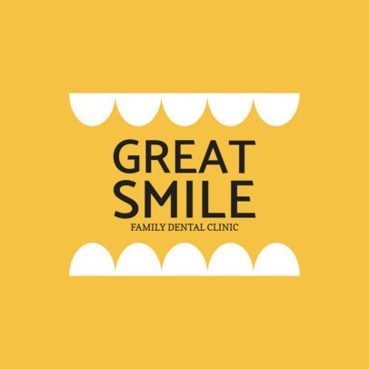 Custom Logo Maker for Family Dental Centers with Yellow Background 1284c