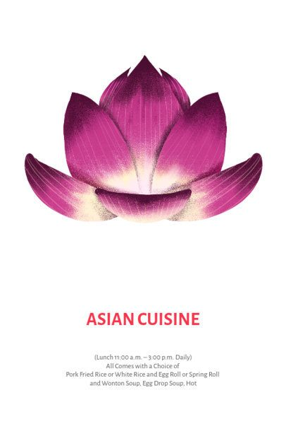 Online Flyer Maker for Asian Food Restaurants 435c