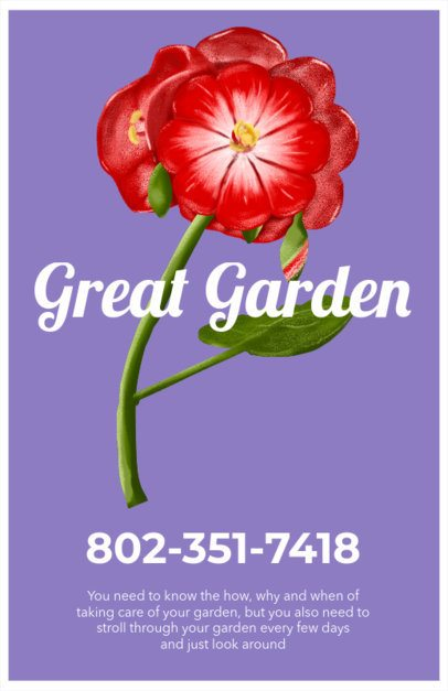 Online Flyer Maker for Plant Nurseries 435d