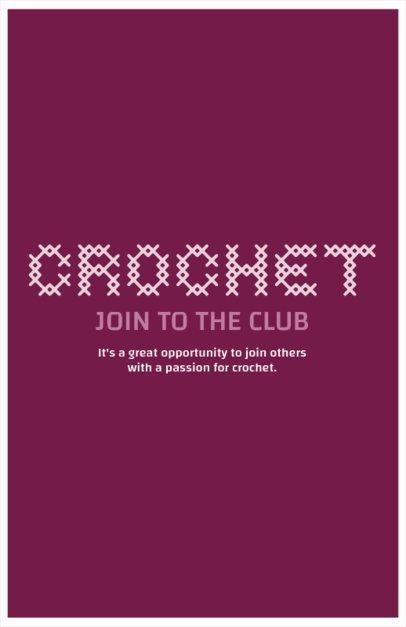 Flyer Maker for Crochet Classes 435e
