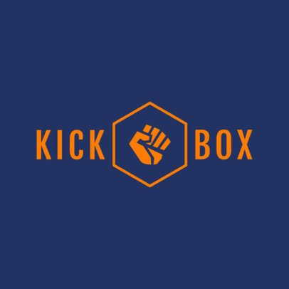 Logo Maker for Kickboxing Clubs 1297c