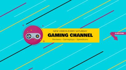 Awesome Gaming Channel Banner Template 456