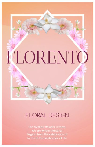Flyer Maker for Florists with Floral Frame 397c