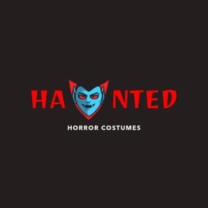 Halloween Vampire Logo Maker 1305d